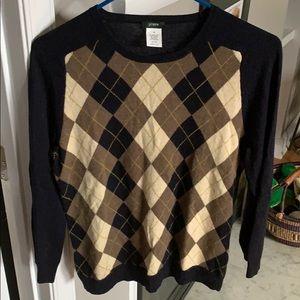 J. Crew argyle sweater, M